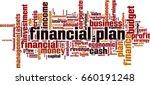 financial plan word cloud... | Shutterstock .eps vector #660191248