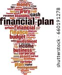 financial plan word cloud... | Shutterstock .eps vector #660191278