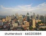 morning sunrise view of kuala... | Shutterstock . vector #660203884