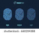 vector fingerprint icons set ... | Shutterstock .eps vector #660204388