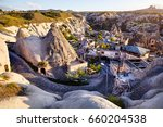 hotels and resort in the tufa... | Shutterstock . vector #660204538