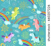 pattern with horses   Shutterstock .eps vector #660207226