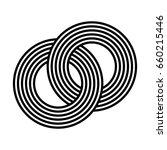 interlocked striped rings... | Shutterstock .eps vector #660215446