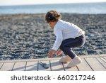 happy girl enjoying in the...   Shutterstock . vector #660217246
