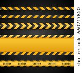yellow and black danger tapes.... | Shutterstock .eps vector #660219850