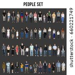 diversity people set gesture... | Shutterstock . vector #660221749