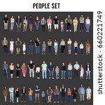 diversity people set gesture... | Shutterstock . vector #660221749