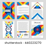 abstract vector layout... | Shutterstock .eps vector #660223270
