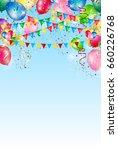 balloon sky flag background | Shutterstock .eps vector #660226768
