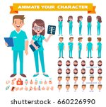 front  side  back view animated ... | Shutterstock .eps vector #660226990