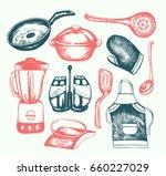 kitchen ware   illustration of... | Shutterstock .eps vector #660227029