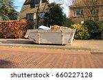 loaded dumpster near a... | Shutterstock . vector #660227128