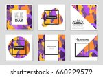 abstract vector layout... | Shutterstock .eps vector #660229579
