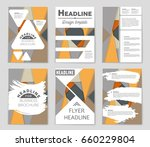 abstract vector layout... | Shutterstock .eps vector #660229804