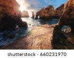 Atlantic Ocean Sunrise. Algarv...