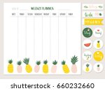 weekly planner template with... | Shutterstock .eps vector #660232660