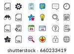 download document icons. file... | Shutterstock .eps vector #660233419