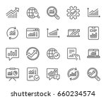 analysis  statistics line icons.... | Shutterstock .eps vector #660234574
