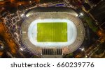aerial view of stadium at night | Shutterstock . vector #660239776