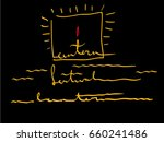 lantern festival. stylized...   Shutterstock .eps vector #660241486