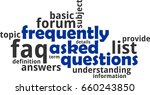 a word cloud of frequently...   Shutterstock .eps vector #660243850