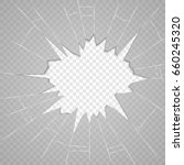 broken glass texture. isolated... | Shutterstock .eps vector #660245320