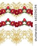 garland  bouquet roses  bright...   Shutterstock . vector #660254194