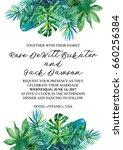 wedding vertical invitation... | Shutterstock . vector #660256384