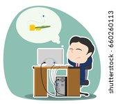 asian businessman worried...   Shutterstock .eps vector #660260113