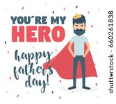 greeting card. happy father s... | Shutterstock .eps vector #660261838
