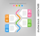 infographic template of four... | Shutterstock .eps vector #660267688