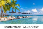 view from the pool to the beach ... | Shutterstock . vector #660270559