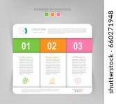 infographic template of three... | Shutterstock .eps vector #660271948