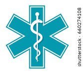 medical symbol star of life ... | Shutterstock .eps vector #660274108