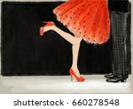 woman and man. kiss. love.... | Shutterstock . vector #660278548