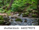 tiny river cascade waterfall...   Shutterstock . vector #660279073