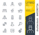 lineo editable stroke   hotel... | Shutterstock .eps vector #660280726