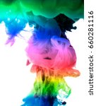 acrylic colors and ink in water.... | Shutterstock . vector #660281116