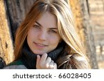 young pretty woman portrait | Shutterstock . vector #66028405