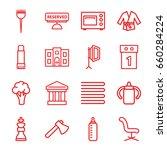 nobody icons set. set of 16... | Shutterstock .eps vector #660284224