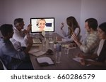 business people talking to... | Shutterstock . vector #660286579