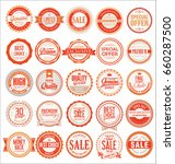 retro badges and labels... | Shutterstock .eps vector #660287500