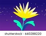 yellow flower  | Shutterstock .eps vector #660288220