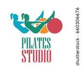 pilates logo for pilates school ... | Shutterstock .eps vector #660306676
