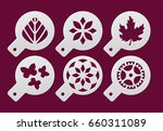 set of coffee stencils on a... | Shutterstock .eps vector #660311089