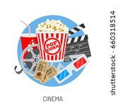 cinema and movie time concept... | Shutterstock .eps vector #660318514