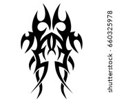 tattoo tribal vector design.... | Shutterstock .eps vector #660325978