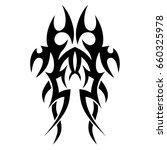 tribal tattoo art designs.... | Shutterstock .eps vector #660325978