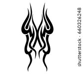 tattoo tribal vector design.... | Shutterstock .eps vector #660326248