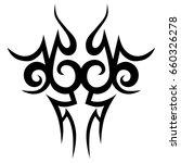 tattoo tribal vector design.... | Shutterstock .eps vector #660326278